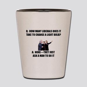 Ask a Man Shot Glass
